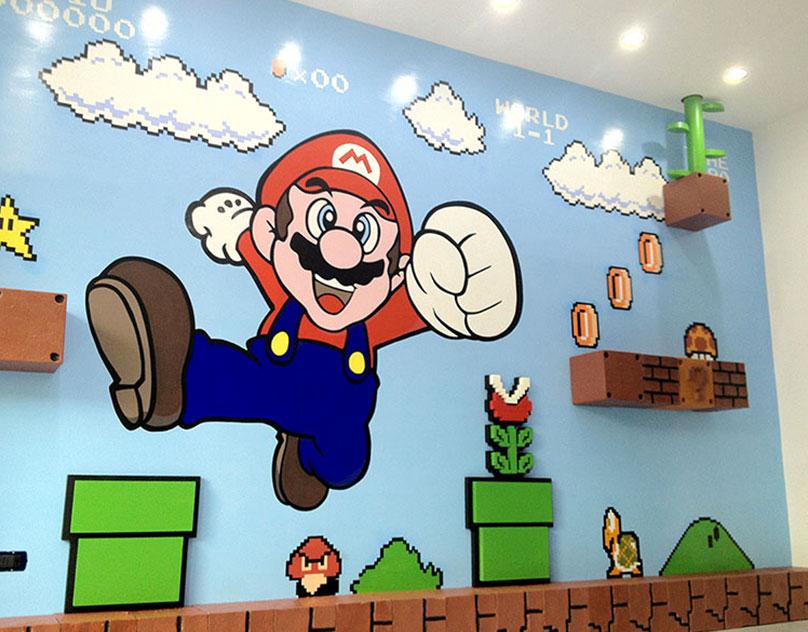 3D Murals Super Mario Bros.